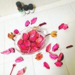 お花やグリーンを使って「視覚」で愉しむバスタイム
